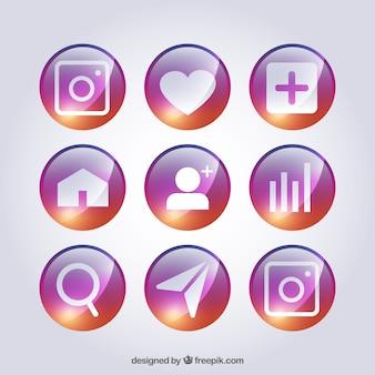 Symboles colorés pour les réseaux sociaux