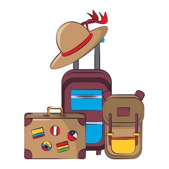 Symboles du voyage autour du monde