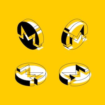 Symboles isométriques de la crypto-monnaie monéro