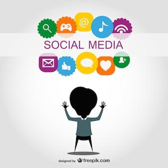 Symboles de médias sociaux conception