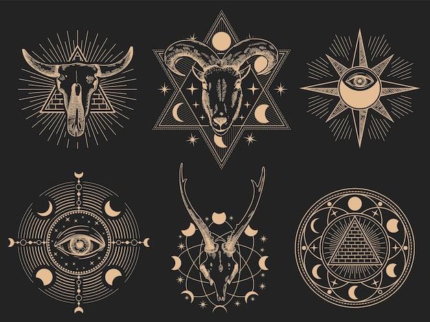 Symboles occultes.