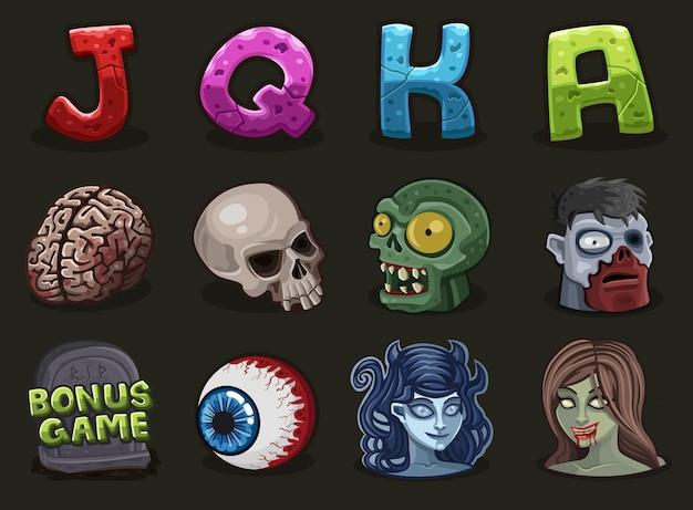 Symboles pour le jeu de zombie de machines à sous