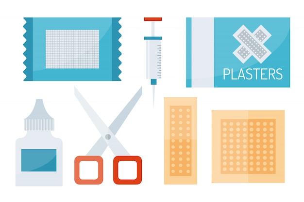 Symboles de premiers secours vector illustration.