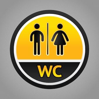 Symboles de toilettes