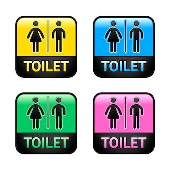 Symboles des toilettes