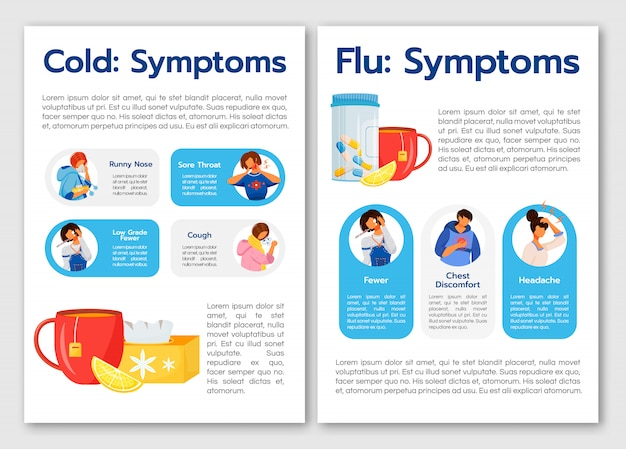 Symptômes courants du virus du rhume et de la grippe