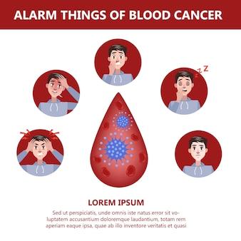 Les symptômes du cancer du sang. risque de leucémie