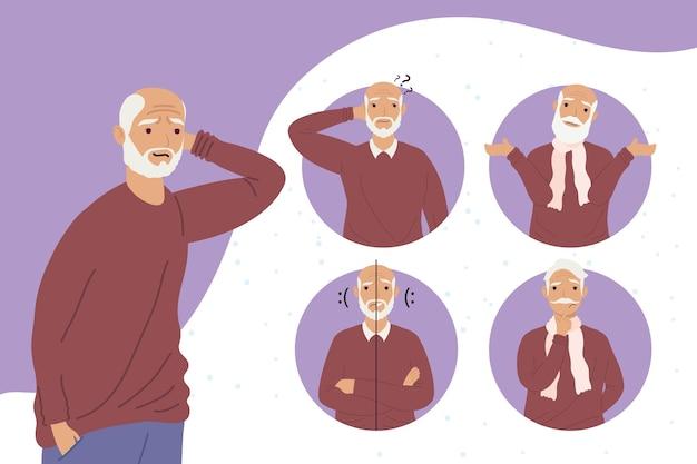 Symptômes de la maladie d'alzheimer de grand-père