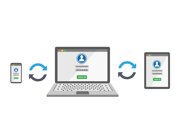 Synchroniser les appareils avec un modèle de connexion