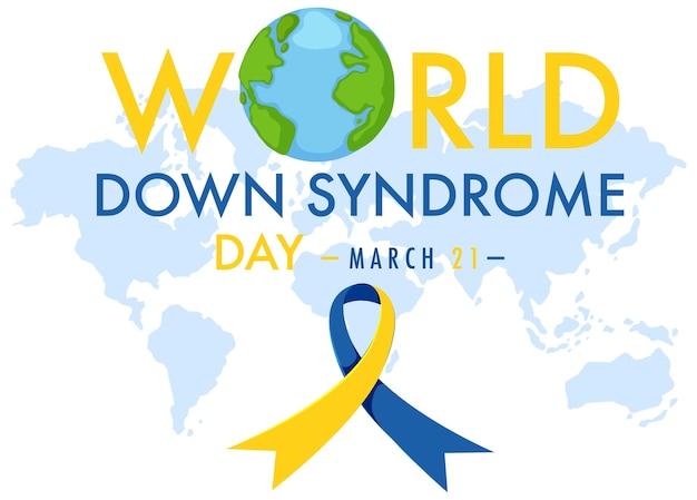 Syndrome de down mondial le 21 mars avec jaune