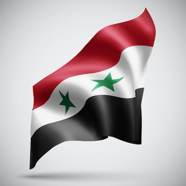 La syrie, vecteur 3d flag isolé sur fond blanc