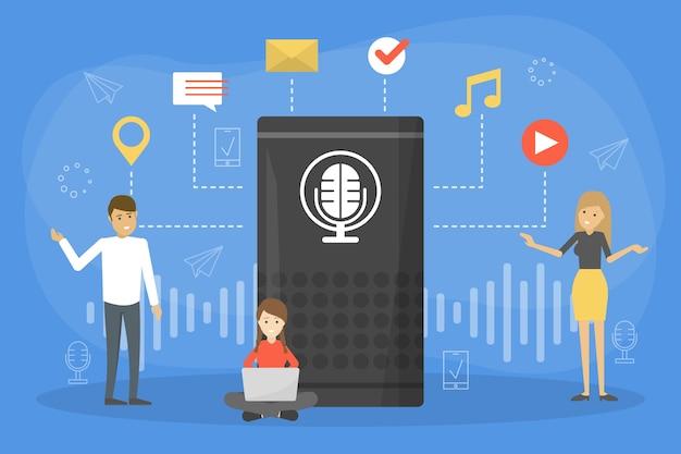 Système d'assistance vocale dans le concept de téléphonie mobile
