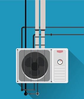 Système de conditionnement d'air avec tube