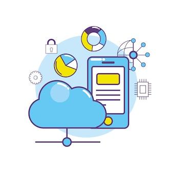 Système de connexion de centre de données smartphone
