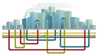 Système de conduite d'eau souterraine