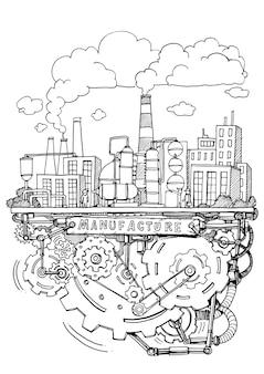 Système de fabrication et d'exploitation en usine doodle d'écriture de ligne d'assemblage