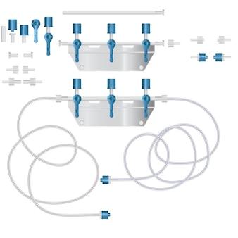 Système pour perfusion intraveineuse avec réducteur.