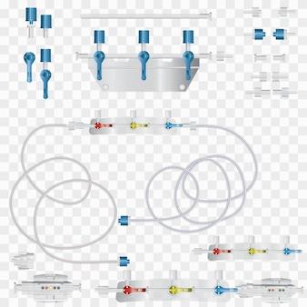 Système pour perfusions intraveineuses avec un dispositif de conversion.