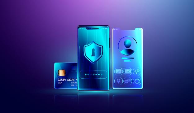 Système de protection des données et verrouillage sécurisé des informations personnelles