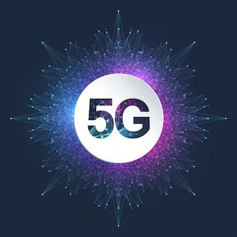 Système sans fil réseau 5g et connexion internet