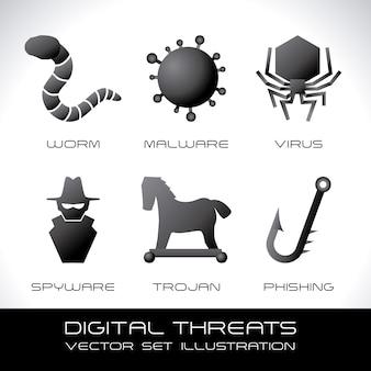 Système de sécurité sur l'illustration vectorielle fond gris