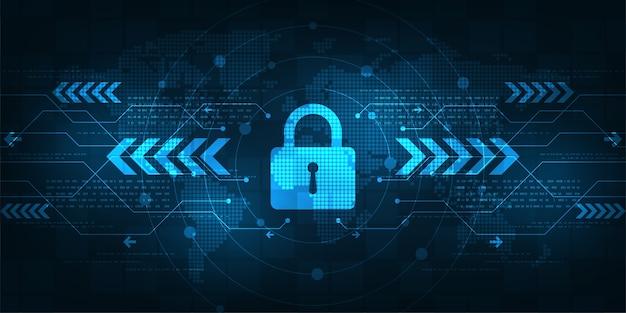 Système de sécurité numérique sécurisé de fond.