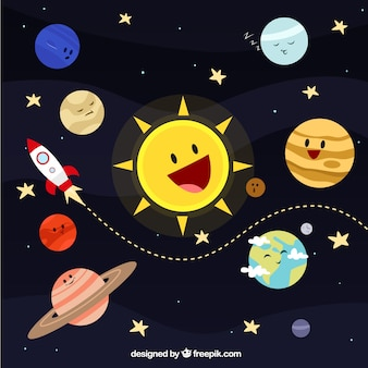 Système solaire illustration