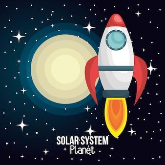 Système solaire de navire de fusée isolé
