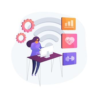 Système de surveillance de la santé. logiciel de suivi des statistiques médicales, consultation médicale en ligne, service de télémédecine. examen à distance et consultation.
