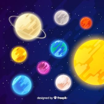 Système de système solaire classique avec un design plat