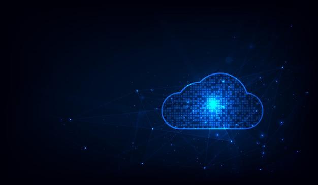 Système de technologie de nuage abstrait science-fiction concept design background. illustrateur
