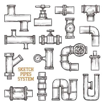 Système de tuyaux d'esquisse