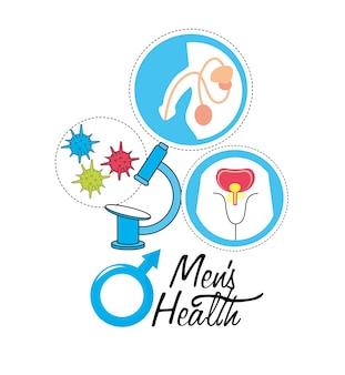 Système urinaire masculin avec infection virale
