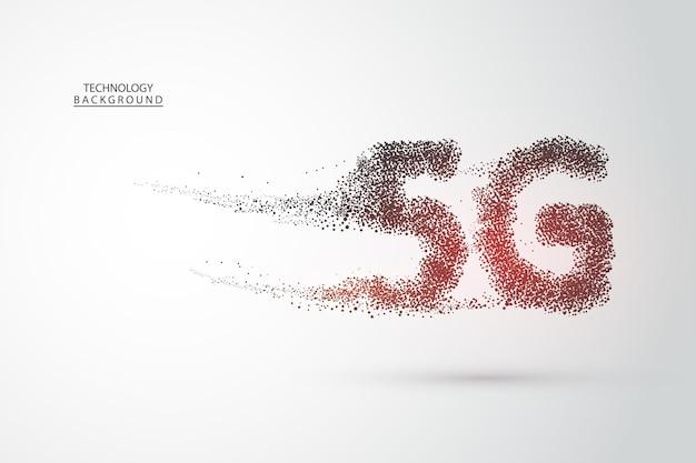 Systèmes sans fil du réseau 5g et internet. numéros de flux de code binaire big data. réseau de communication. technologie de débit de données de connexion d'innovation à grande vitesse de réseau mondial