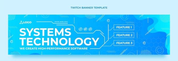 Systèmes de technologie de gradient linkedin banner