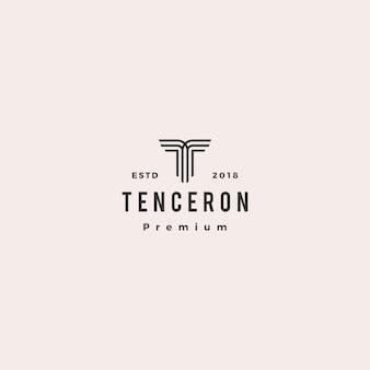 T lettre logo vector icon illustration