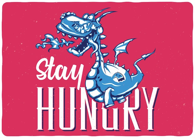 T-shirt Ou Affiche Avec Illustration De Dragon Vecteur gratuit