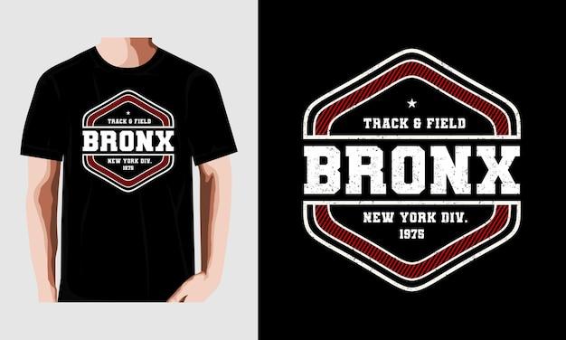 T-shirt d'athlétisme bronx imprimé