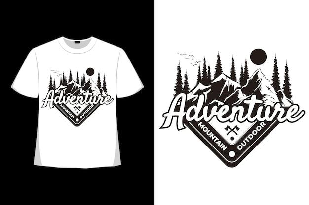 T-shirt aventure montagne extérieur pin style vintage