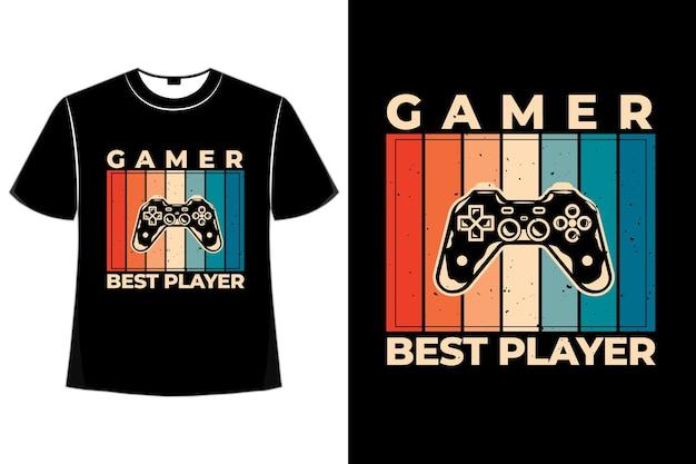 T-shirt bâton joueur de console rétro
