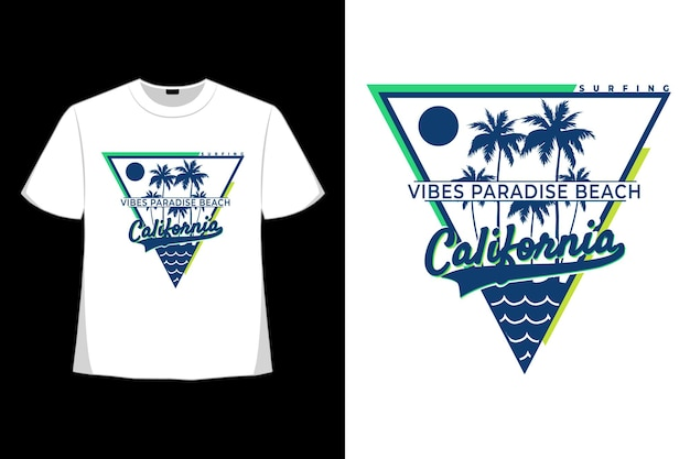 T-shirt california vibes paradise beach surf style vintage