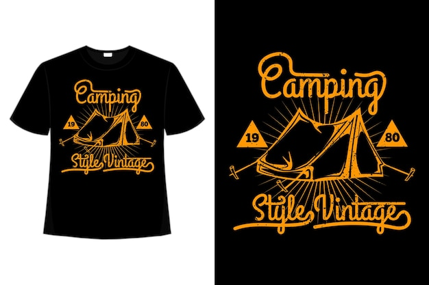 T-shirt camping style vintage
