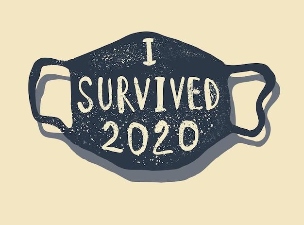 T-shirt citation de corona survécu