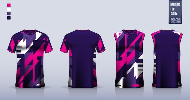 T-shirt, conception de modèle de chemise de sport pour maillot de football, kit de football. débardeur pour maillot de basket ou maillot de course.
