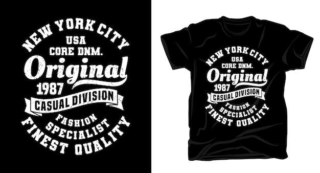 T-shirt de conception de typographie originale de new york city