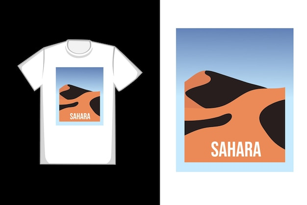 T-shirt design sahara belle ambiance chaude