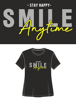 T-shirt design smile typographie