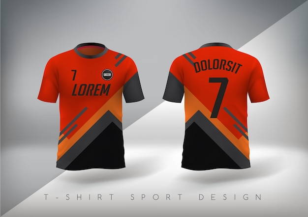 T-shirt de football ajusté à col rond.