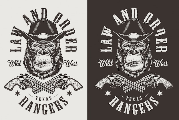 T-shirt imprimé avec concept de gorille