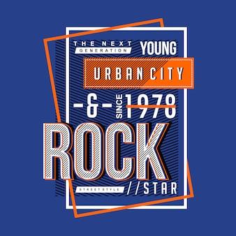 T-shirt imprimé de conception typographique de ville urbaine